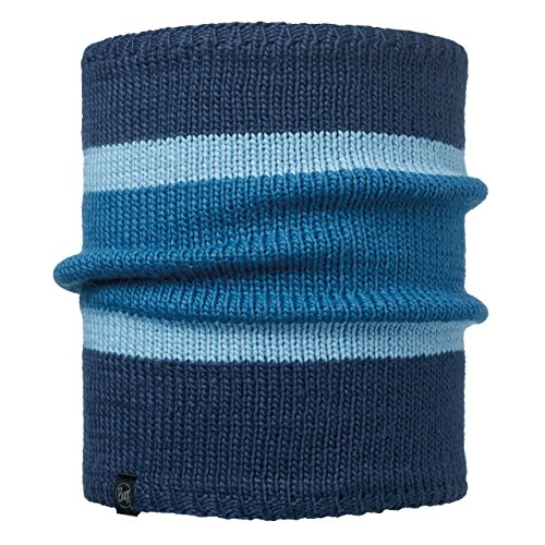 BUFF - Knitted - Chauffe-Cou Comfort - Mixte Adulte - Bleu ( Navar Ocean/Grey Vigore) - Taille Unique
