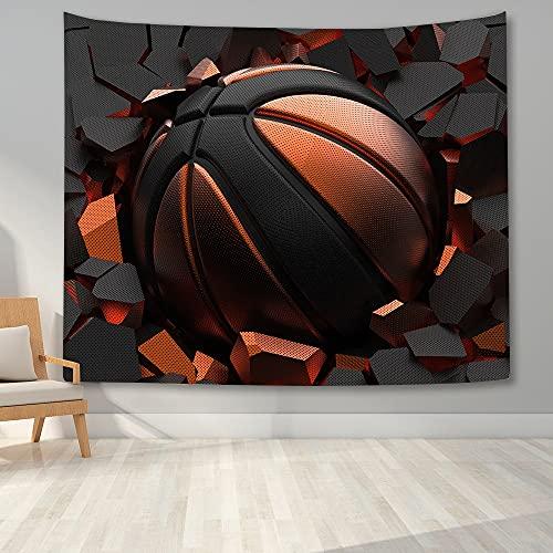KHKJ Tapiz de Pared de Baloncesto Impreso en 3D para Dormitorio de niños Adolescentes Tapiz Colgante de Pared hogar Dormitorio tapices de Tela de Fondo A6 200x150cm