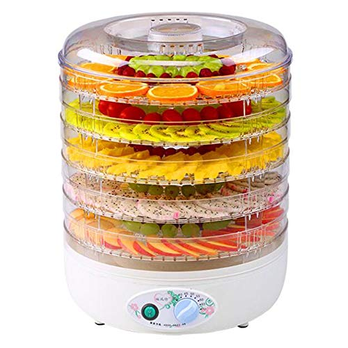 Fantastic Prices! Food Dryer - Household Dried Fruit Machine Layered 5 Trays, Adjustable Temperature...