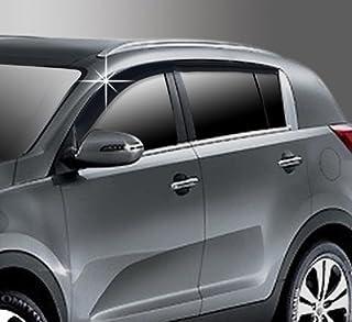 4 pezzi AUTO Clover Chrome Vento DEFLETTORI Set Per Kia Sportage 2010-2015