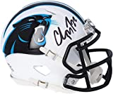 Christian McCaffrey Carolina Panthers Autographed Riddell Flat White Alternate Revolution Speed Mini Helmet - Autographed NFL Mini Helmets