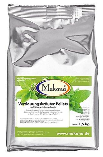 Makana Verdauungskräuter Pellets für Tiere, 1er Pack (1 x 1.5 kg)