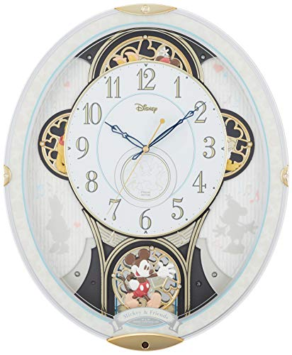 Disney (Rhythm Clock) Mickey u0026 Friends M509 (Radio automaton Clock) White 4MN509MC03