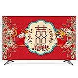 catch-L TV LCD Cubierta De Polvo Protector De Pantalla Boda China Roja Cubierta Antipolvo (Color : B, Size : 24inch)