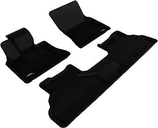 3D MAXpider-L1BM06201509 Complete Set Custom Fit All-Weather Floor Mat for Select BMW X6 (E71) Models - Kagu Rubber (Black)