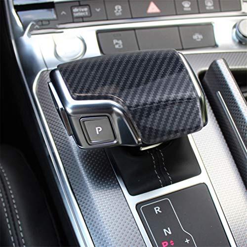 JJJJD Auto-Styling-Kohlefaser-Konsole-Schaltschrauber-Rahmenabdeckung für Audi A6 C8 A7 Auto-Innenausrüstung Schaltknopfkopf-Aufkleber-Trim (Color Name : Carbon Fiber)
