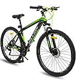 Geekay Billion 21 Speed Gear 17.00, steel Mountain Bike for Men and Women (Green/Black, 29' Wheel)