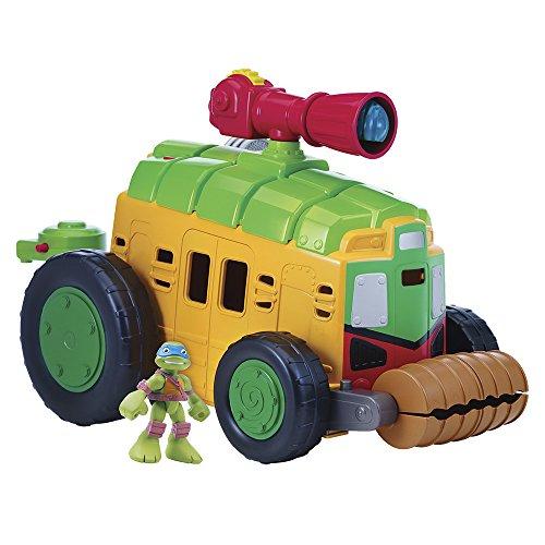 Giochi Preziosi - Tartarughe Ninja: Mini Heroes Camion Shell Raiser con Suoni, Personaggio Incluso nella Confezione