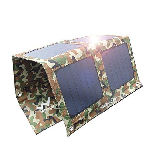 powergreen 21W 2-Port USB porta caricatore solare Sunpower pannelli solari (Massimo effiency Pannello) ricarica per tutti i 5V dispositivi digitali mobili