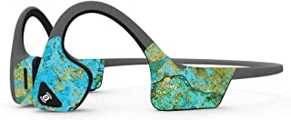 MightySkins Skin Compatible with Aftershokz Trekz Air Wireless - Teal Marble | Protective, Durable, and Unique Vinyl Decal...