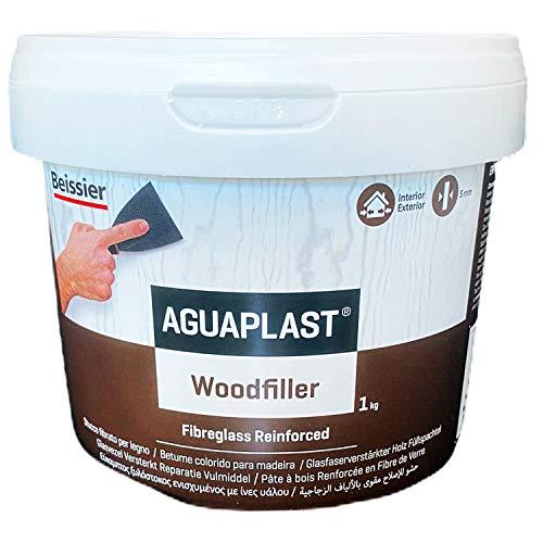 Aguaplast Woodfilelr Neutro 1 kg Stucco fibrato pronto all'uso per riempire buchi e crepe su legno in mano unica senza ritiro