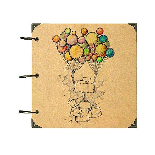 ToiM Nostalgisches Thema DIY Fotoalbum Hochzeit Jahrestag Scrapbook Familie Freunde Erinnerungsbuch Sticky Seiten Scrapbooking Nostalgisches Thema (Ballons)