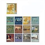 DEF 2021 Mini Calendario de Escritorio Calendario de Escritorio con Soporte, Calendario de Mesa con Pegatina (Color : M-1)