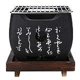 WSSZZ319 Japanische BBQ Grill Stil Für 2-4 Personen Holzkohlegrill Aluminiumlegierung Party Zubehör Tragbare Grill Werkzeuge,S