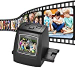 Businda All-in-1 Film & Slide Scanner, Converts Films/Slides/Negatives to Digital Photos Built-in 128MB Memory 2.4 LCD Screen High Resolution 14MP/22MP Easy Load Film (16GB)