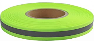 Safety Silver Reflective Webbing Ribbon Tape Trim Strip Sew On 20mm x 50meter (Green)