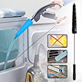 Dryer Vent Cleaner Kit Vacuum Hose Attachment Brush Lint Remover Power Washer and Dryer Vent Vacuum Hose with Guide Wire and Dryer Lint Vent Trap Cleaner Brush