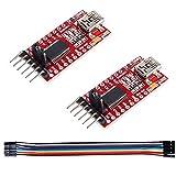 Qootec FT232RL Adaptador FTDI USB a TTL Serial para 3,3V y 5V Serial Adapter