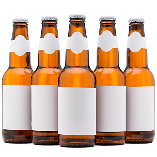 Beer Labels, Waterproof, Blank to be Personalized, Beer Bottle Labels 40 Pack, Inkjet Compatible