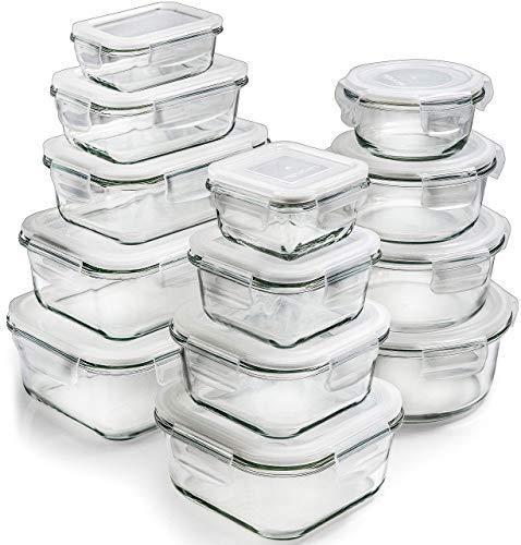 Boite Verre Boite De Conservation Alimentaire - 13 Pack Hermetique Boite Conservation Alimentaire Verre Boite Verre Alimentaire Avec Couvercle Alimentaire - Recipient En Verre Boite Alimentaire Pyrex