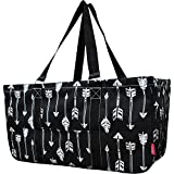 N. Gil All Purpose Open Top 23' Classic Extra Large Utility Tote Bag 2 - Black Arrow