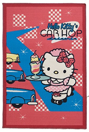 Disney Rug Carpet for Kid Girl's Bedroom Hello Kitty (120x80 CM)