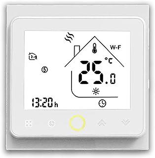 BecaSmart Series 002 Termostato Inteligente Wi-Fi 3A Pantalla táctil LCD Calentamiento de Agua Control de programación Int...