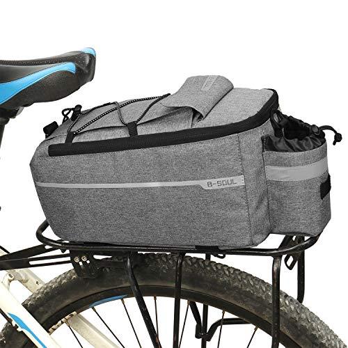 KuanDar Sport 10L Sacoche de Cadre Velo,Vélo Arrière Siège Bagage Paquet, Multi Fonction Excursion Cyclisme Équitation Voyage, Imperméable Grande capacité Tronc des Sacs
