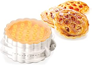 Tescoma Mini Pie Maker – Best Unique Pie Stuffer – Cap, 3 Lattice Patterned Cutters, Stuffer and Punching Stick, Varied Pie Stuffing and Shapes, 2 Recipe Books Included