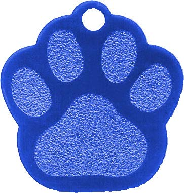TheAwristocrat 12 Pack Blank Pet ID Tags for Dogs & Cats Wholesale - Select from a Variety of Shapes & Colors (Blue, Paw)