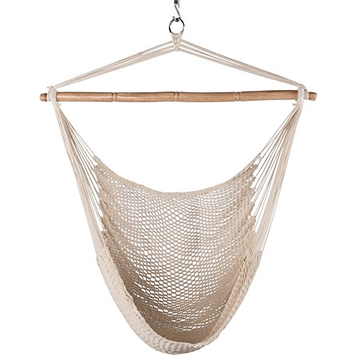 Lazy Daze Hammocks Hanging Chair Caribbean Swing Chair Hammock Chair with Soft-Spun Cotton Rope, 40...