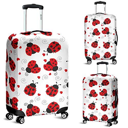 Ladybugs Love Luggage Suitcase Cover Protector Decor Ladybird Gift Item (Large)