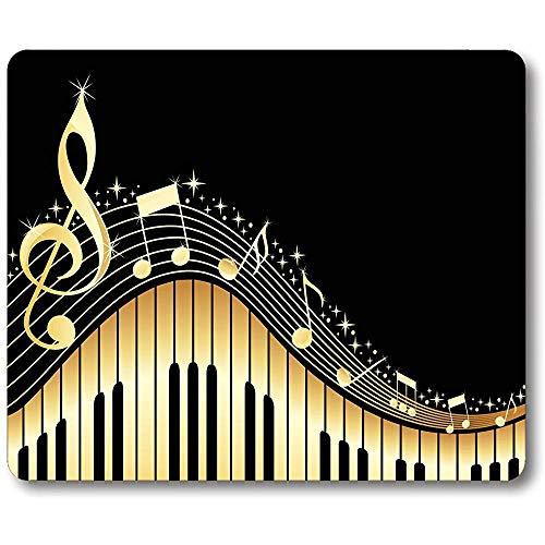 Oude vintage abstracte piano en muziek noot op maat rechthoek anti-slip rubberen muismat Gaming muismat 30 * 25 * 0,3 cm