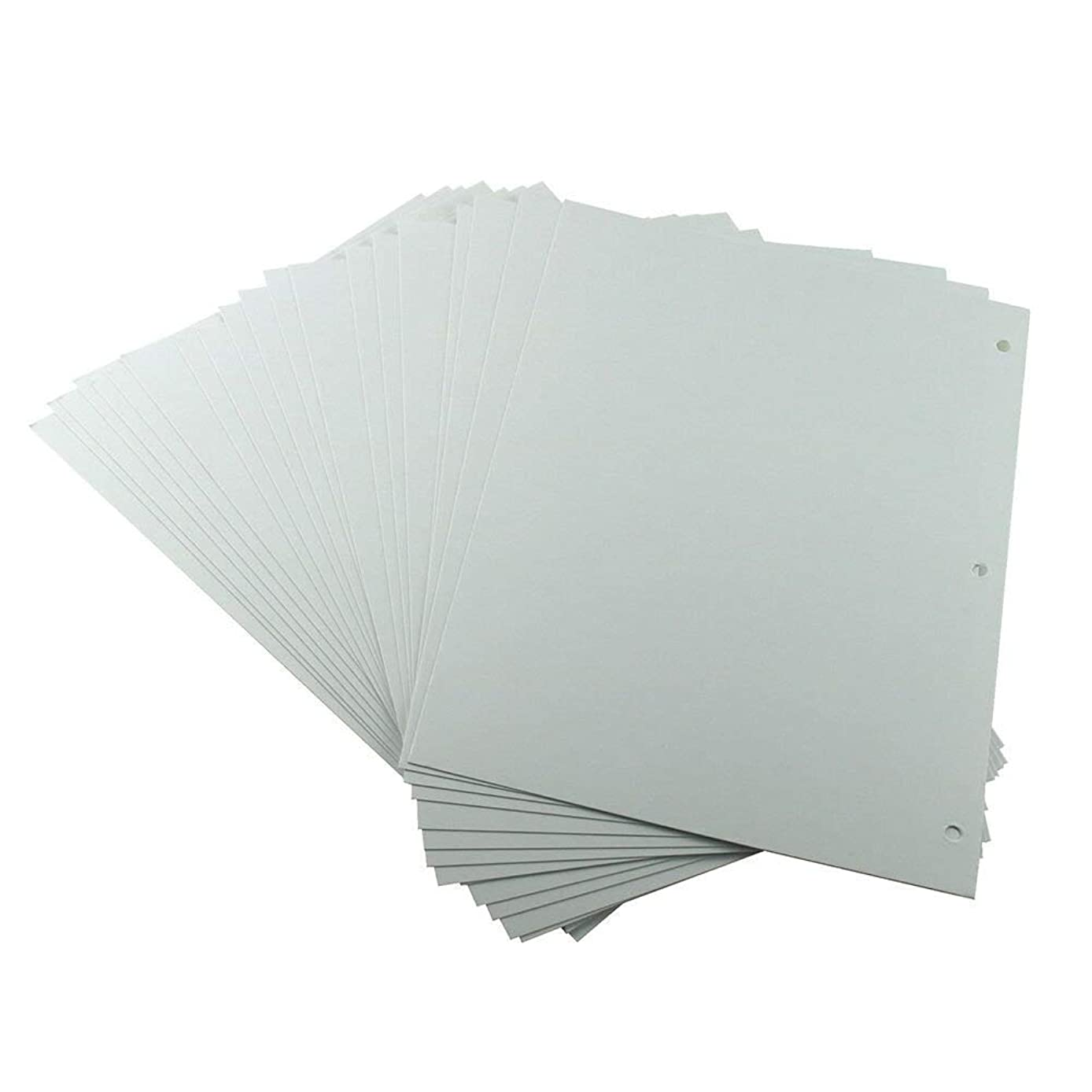XIUJUAN Scrapbooking Paper 26 x 18cm, White Refill Pages for Scrapbook Album 27.5 x 20.5cm, 20pcs (for Butterfly Girl Large)