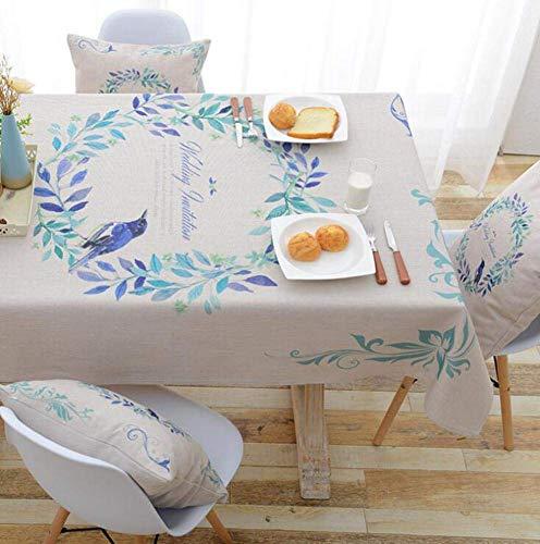 JLYZB 3d Rimpel Gratis Tafeldoek, Rechthoek Tafelhoes, Wasbaar Picknick Camping Keuken Dineren Stofdichte Beschermer Tafelkleed - h 100x140cm (39x55inch)