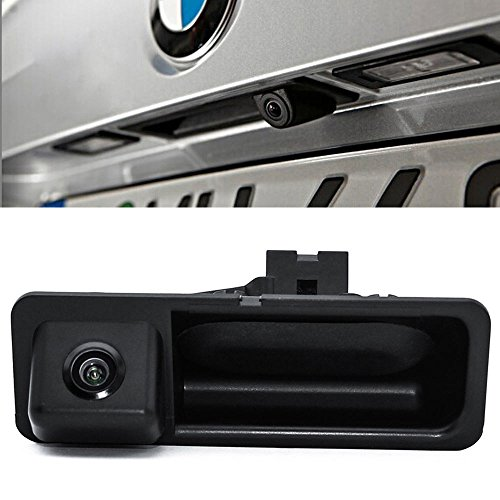 Navinio Wasserdicht Nachtsicht Auto Kofferraum Griff Rückfahrkamera für BMW X5 X1 X6 E39 E46 E53 E82 E84 E88 E90 E91 E92 E93 E60 E70 E71