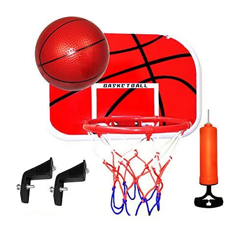 KamaLM Aro de baloncesto para niños, mini baloncesto de interior, juego de descomprimir Gadget para niños pequeños y niñas con muñequeras deportivas