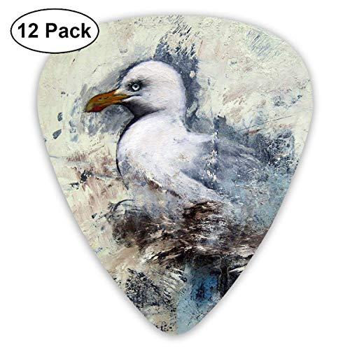 Plektrum 351 Form Klassische Gitarre Picks Seagull Art Painting Plektren Instrument Standard Bass 12er Pack