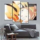Neyouyou Impression sur Toile 60X80cm - 4 Parties - Image sur Toile - Images - Photo - Tableau - Motif Moderne - Décoration - (sans Cadre)-Naruto,60X80cm
