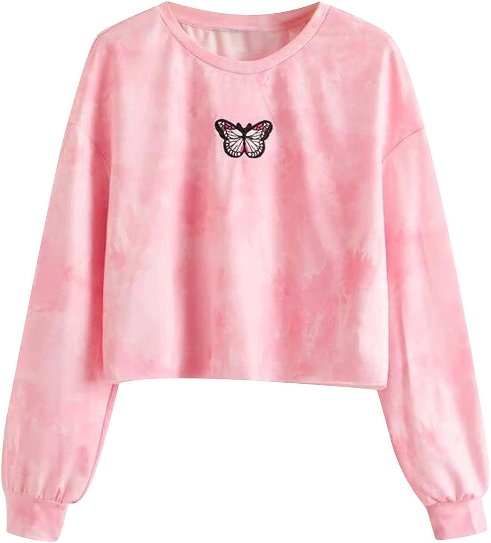 UOCUFY Womens Sweatshirts, Womens Loose Tie Dye Drawstring Tops Casual Long Sleeve Graphic Printed Pullover Hoodies