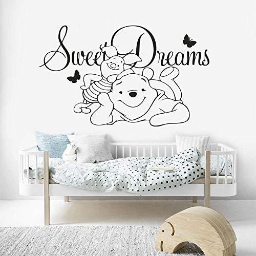 stickers muraux chambre Winnie Sweet Dreams Bébé Bande Dessinée Chambre De Bain Winnie L'Ourson Décor À La Maison Enfants Cadeau