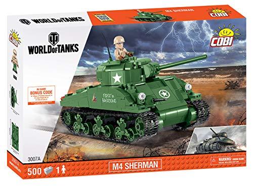 COBI - Small Army WOT M4 Sherman (500 PCS), Green