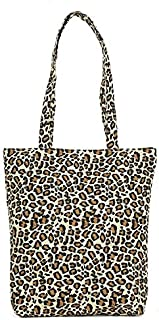 YKDY Shoulder Bag Leisure Fashion Leopard Print Canvas Shoulder Bag Handbag(Black) (Color : Yellow)