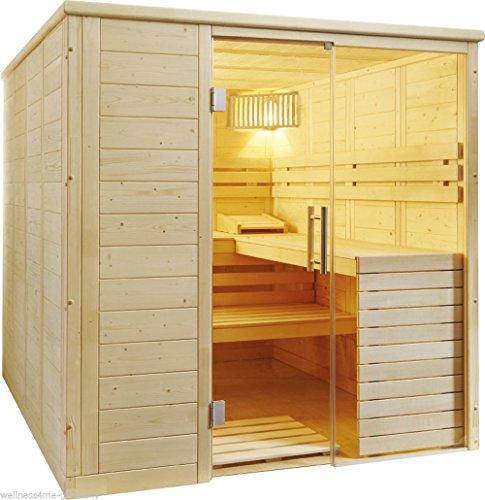 WelaSol Massivholz Sauna Aura inkl. EOS Ofen und Steuerung