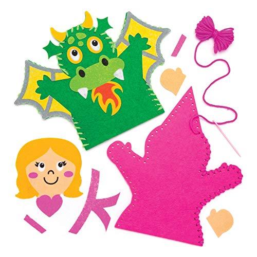 Baker Ross- Kits Costura Marionetas Mano Cuentos Hadas