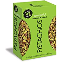 9-Pack Wonderful No Shells, Roasted & Salted Pistachios, 0.75 Oz