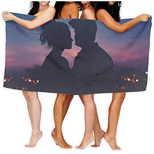 Edmun Toalla de baño Love Dry Dry Dry Sand Free Super Absorbente Ultra Ligero Peso Compacto Compacto Manta de Playa de Viaje al Aire Libre para baño de Gimnasia