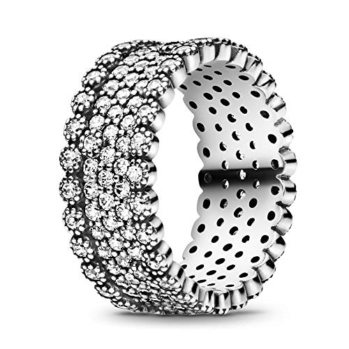 Pandora Jewelry Sparkling Pave Band Cubic Zirconia Ring in Sterling Silver, Size 7