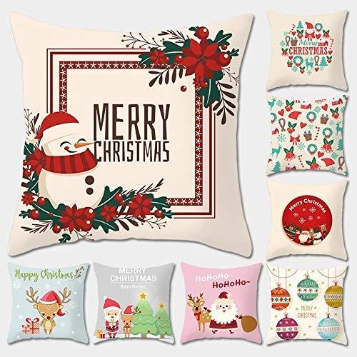SDJ kerstkussen, kerstman, eland, artikel voor thuis, kleur kussen 45 * 45cm * Mas8 (1)