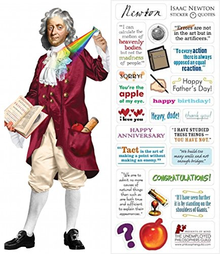 Issac Newton Quotable Notable - Greeting Card met sticker Quotes